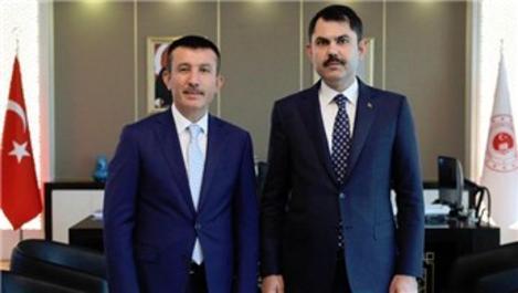 Bakan Kurum ile Başkan Balcı bir araya geldi