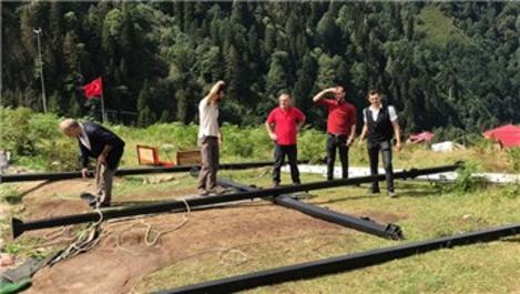 Ayder Yaylası'nda salıncaklar sökülmeye başlandı