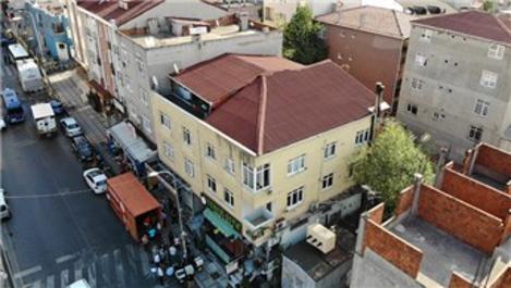 Ataşehir'de 4 katlı riskli bina tahliye ediliyor