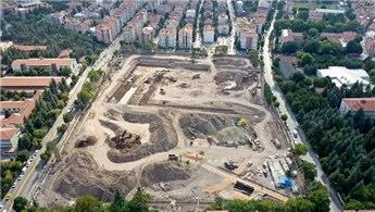 Eskişehir Millet Bahçesi'nin yapımı hızla devam ediyor