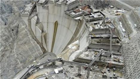 Yusufeli Barajı, 1 dakikada 40 bin kare görüntülendi