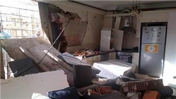 Acıbadem'de inşaatın beton kalıbı yan binadan içeri girdi