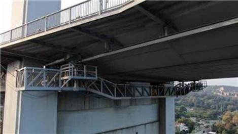 15 Temmuz Şehitler Köprüsü'nün bakım platformu görüntülendi