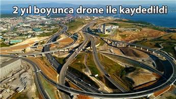 Kuzey Marmara Otoyolu'nun yapım aşamaları görüntülendi