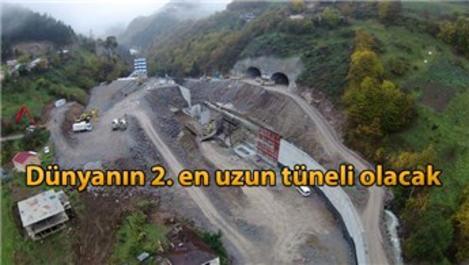 Yeni Zigana Tüneli'nde inşaat tam gaz devam ediyor!