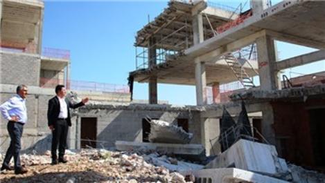 Başkan Aras, Bodrum'daki kaçak yapıları inceledi
