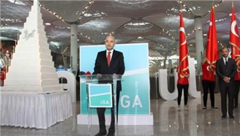 İstanbul Havalimanı'nda '95 artı 1. yaş' kutlaması!