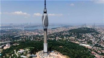 Çamlıca TV-Radyo Kulesi'ne son parçalar yerleştiriliyor