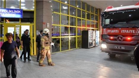 Bakırköy Doktor Sadi Konuk Hastanesi'nde yangın paniği!