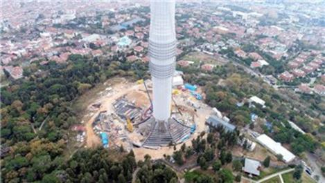 Çamlıca Kulesi'nin dış cephesi bitmek üzere!