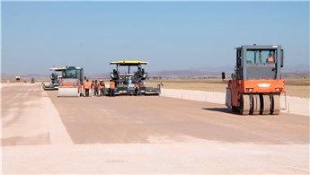Gümüşhane Bayburt Havalimanı'nda zemin çalışması tamamlandı