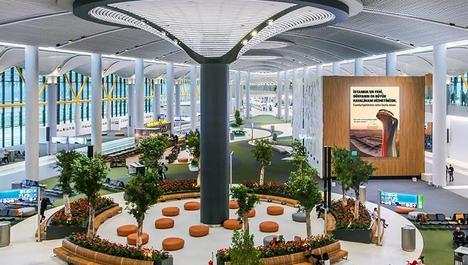 İstanbul Havalimanı, doğa temalı mimarisiyle dikkat çekiyor