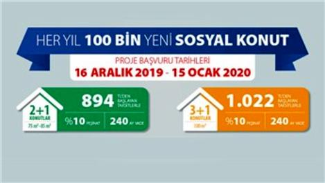 Sosyal konutlar için başvurular 16 Aralık'ta başlıyor