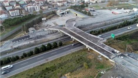 Tuzla Şifa-Çayırova bağlantı köprüsünde çalışmalar hızla sürüyor