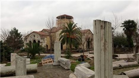Trabzon Ayasofya Camisi'nde restorasyon tamamlanmak üzere