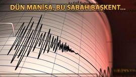 Ankara'da 12 dakika arayla iki deprem!