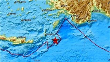 Akdeniz'de 5.8 büyüklüğünde deprem!