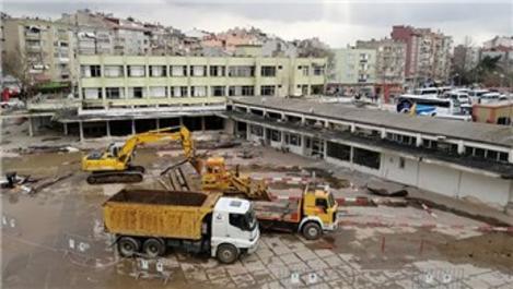 Erdek Otogarı'nda yıkımlar başladı