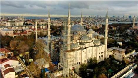 Sultanahmet Camisi'nin restorasyonu yüzde 30'u geçti