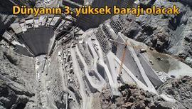 Yusufeli Barajı'nda yükseklik 184 metreye ulaştı