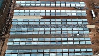 Elazığ'da konteyner kentlerin kurulumu devam ediyor