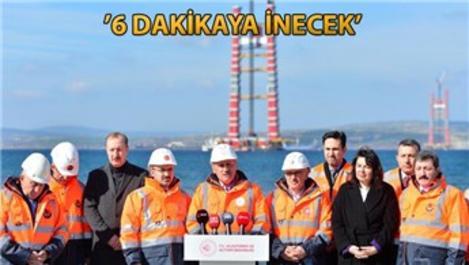 '1915 Çanakkale Köprüsü'nün kuleleri Haziran'da hazır!'