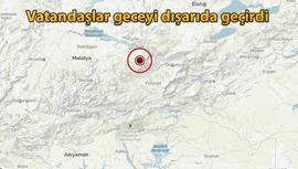 Malatya'da 4,9 büyüklüğündeki deprem korkuttu!