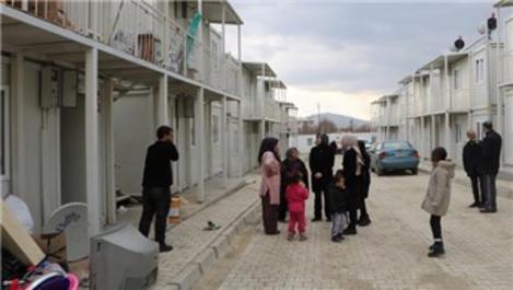Deprem bölgesinde ikinci konteyner kent açıldı