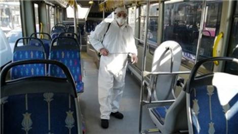 İstanbul'da toplu taşıma araçlarında dezenfektasyon yapıldı
