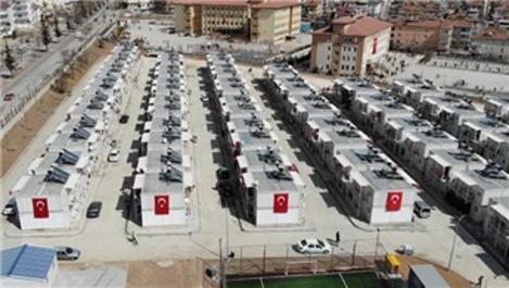 Elazığ'da konteyner kentlerde 3 bin 500 kişi yaşamaya başladı