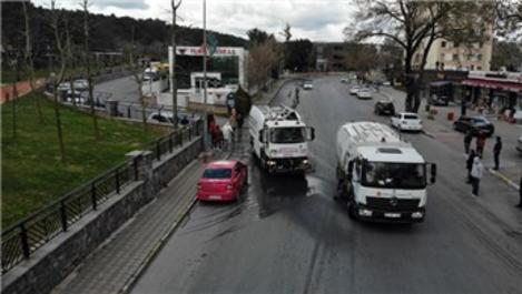 İstanbul'da cadde ve sokaklar dezenfekte edildi