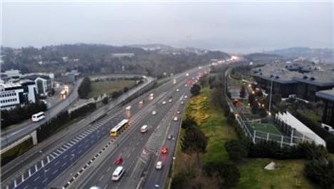 İstanbul'da trafik yoğunluğu yüzde 18'e düştü