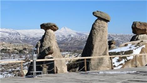 Kapadokya'daki Üç Güzeller ilk kez bu kadar boş kaldı