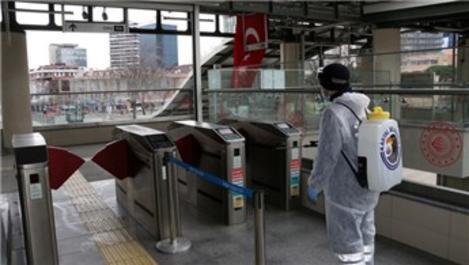 Marmaray istasyonları dezenfekte edildi