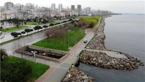 İstanbul'un sahilleri koronavirüs nedeniyle boş kaldı