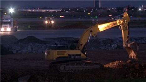 Atatürk Havalimanı'ndaki hastane çalışması gece-gündüz sürüyor