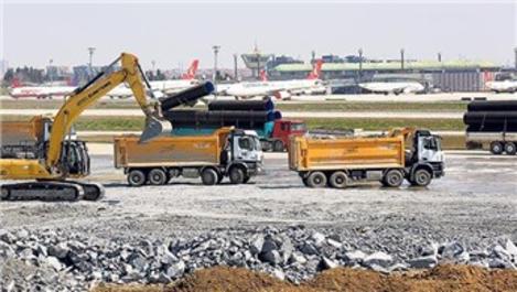 Atatürk Havalimanı'na yapılan hastanenin zemin dolgusu hazır!