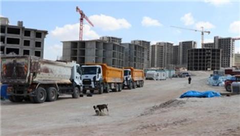 Nevşehir'de TOKİ inşaat alanı karantinaya alındı