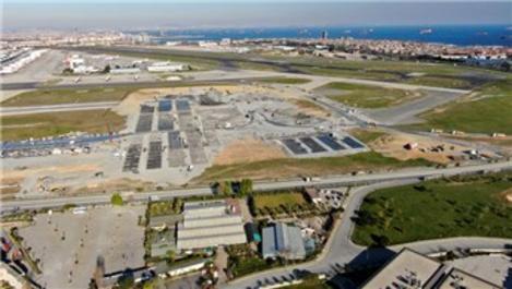 Atatürk Havalimanı'ndaki hastanenin zemini için beton dökülüyor