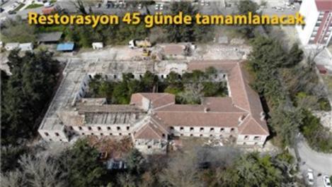 Hadımköy'deki pandemi hastanesinin çalışmaları sürüyor