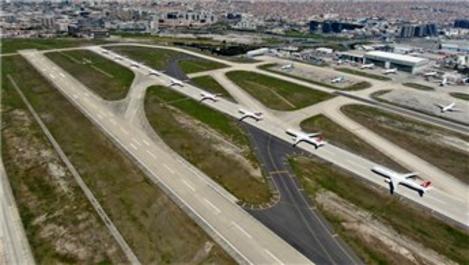 Atatürk Havalimanı pistleri, uçakların park alanı oldu