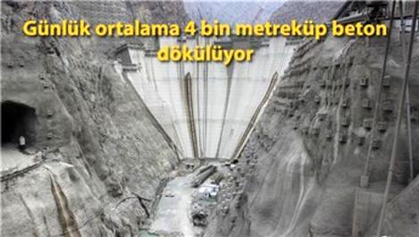 Yusufeli Barajı'nın yüksekliği 200 metreye ulaştı!