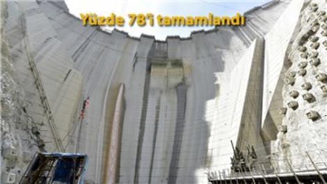 Yusufeli Barajı'nda üst seviye önlemlerle çalışmalar sürüyor