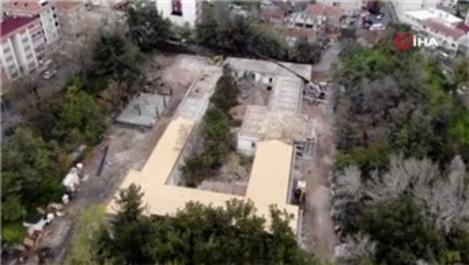 Tarihi Hadımköy Askeri Hastanesi'nin restorasyonu sürüyor