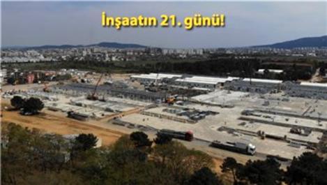 Sancaktepe'deki salgın hastanesinin bazı bölümleri tamamlandı
