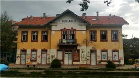 Kırklareli tarihi gar binasının restorasyonu başlıyor