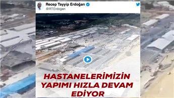 Cumhurbaşkanı Erdoğan pandemi hastanelerinden video paylaştı