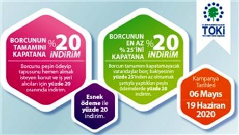 TOKİ'nin yüzde 20 indirim kampanyası başladı!