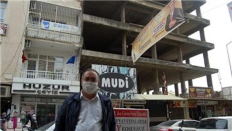Kilis'te yıkılma tehlikesi olan bina 1.8 milyon TL'ye satıldı
