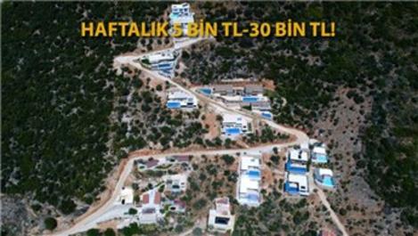 Salgın sonrası Kalkan'daki korunaklı villalara büyük talep
